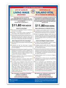 Santa Fe City Minimum Wage Poster