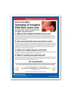 Irvington City Paid Sick Leave Poster