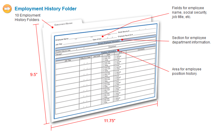 Employee Record Organizer | Pre-Employment And Hiring Tools